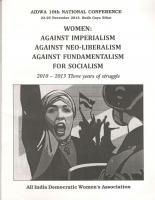 WOMEN: Against Imperialism. Against neo-liberalism. Against fundamentalism. For socialism