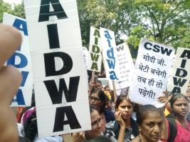 Women organisations protest outside Haryana Bhawan in Delhi, demand arrests of other accused