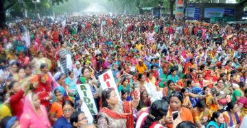 Freedom from Violence, Fear, Hunger and Unemployment - All India Women's Protest Rally on September 4, 2018